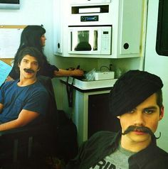 Teen Wolf tyler posey and dylan o'brian!!!!! Mustache!!!