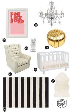 Get the Look: Chic and Cheap Nursery for under $2000 via destinationnursery.com