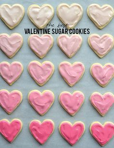 The best valentine sugar cookie recipe | aliceandlois.com