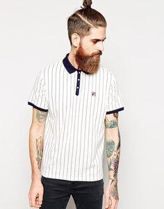 fila vintage polo. fila vintage striped polo shirt