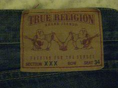 84bca048 True Religion Denim Regular Dark Classic 38 34 Jeans for Men | eBay