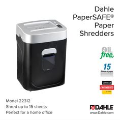 Dahle PaperSAFE 22022 10 Sheet Cross Cut Shredder