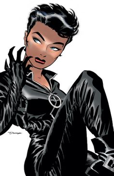 Catwoman vol. 3 #1 (DC) by Ed Brubaker and Darwyn Cooke. Cover by Darwyn Cooke.