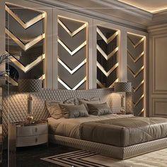 Modern Luxury Bedroom, Luxury Bedroom Design, Master Bedroom Interior, Modern Master Bedroom, Bedroom Furniture Design, Home Room Design, Master Bedroom Design, Luxury Home Decor, Luxurious Bedrooms
