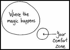 Stepping out of your comfort zone is SCARY, but NECESSARY in order to achieve your goals!