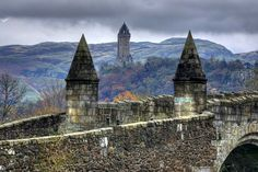 Stirling Bridge and William Wallace Monument ~Scotland