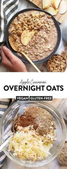 These Vegan Apple Cinnamon Overnight Oats will have you eating dessert for breakfast while getting a serving of whole grains and tons of protein at the same time.