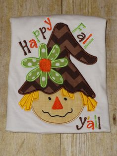 Hey, I found this really awesome Etsy listing at http://www.etsy.com/listing/161619473/girls-scarecrow-top-fall-happy-fall-yall