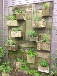 Garden and Patio, Vertical Vegetable Garden House Design With DIY Wall Mounted Wood Planter Box Ideas ~ Vegetable Garden Design