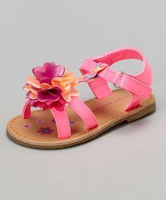 Fuchsia Floral Braided Sandal by Laura Ashley #zulily #zulilyfinds