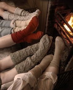 Cozy sweater socks for winter. Love these.