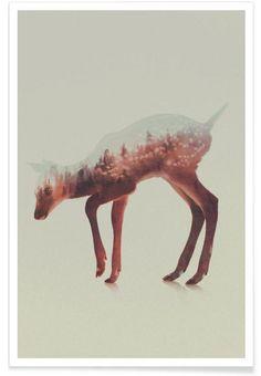 Norwegian Woods: The Deer as Premium Poster by Andreas Lie   JUNIQE