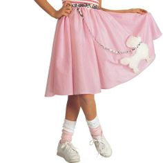 Pink Poodle Skirt for Girls - Party City