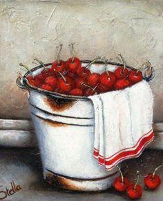 Painting by Stella Bruwer Decoupage Vintage, Stella Art, Still Life Art, Fruit Art, Kitchen Art, Types Of Art, Belle Photo, Painting Inspiration, Painting & Drawing