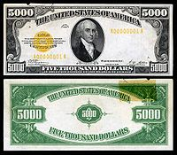 Large denominations of United States currency Rich Money, My Money, 5000 Dollar Bill, Dollar Bills, Money Notes, American Coins, Gold Money, Note Paper, Historical Pictures