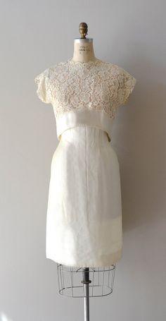 lace 1950s dress / vintage 50s dress / J'Attendrai by DearGolden