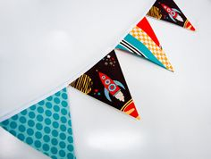 Rocket Ship Flags/Bunting by tigesandweince on Etsy, $35.00