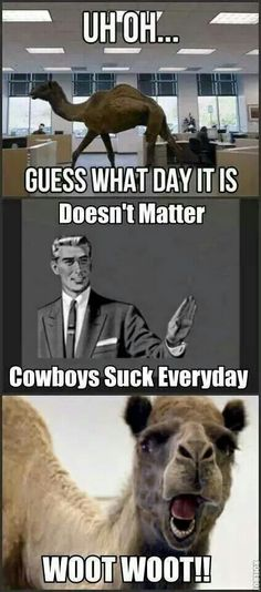 Guess what day it is, cowboy style LOL