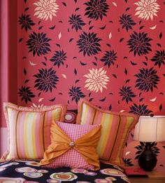 Wall Stencils Design Ideas, Pictures, Remodel, and Decor - page 24