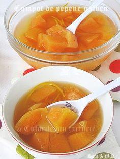 Compot de pepene galben Cantaloupe, Mousse, Gem, Fruit, Food, Canning, Essen, Jewels, Meals