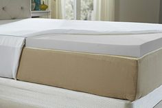 Natures Sleep Queen 2.5 Inch Memory Foam Mattress with 18 Inch Fitted Cotton Cover