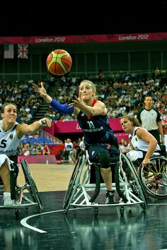 GER v GBR Paralympic wheelchair Basketball Women in action   by bensmithuk, via Flickr