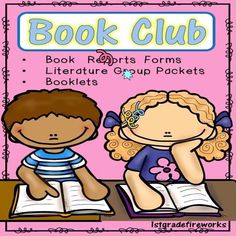 """""""Book Club"""" - (Literature Group) Packets Book Report Forms ⭐⭐ ✎ Small Group Work Directions, ✎ """"Talk-About-It"""" (discussion cards) ✎ Forms for Predictions, Summarizing.including nouns,verbs,etc. Reading Groups, Guided Reading, Teaching Reading, Teaching Ideas, Reading Resources, Reading Strategies, Reading Comprehension, Nouns And Verbs, Text Evidence"""