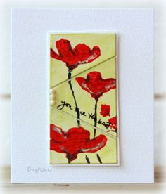 Hello, pretty card by Birgit Edblom! We like you... a lot! The sentiment is a stamp from TechniqueTuesday.com.