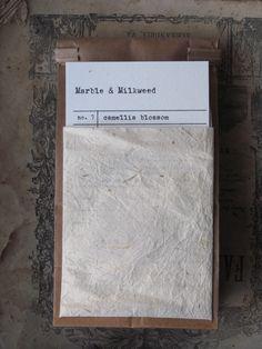 marble & milkweed tea packaging.