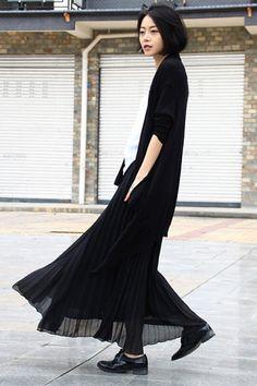 Dark runway dark fashion dark bob hair