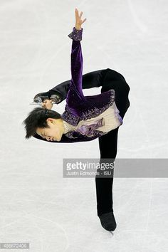 Sota Yamamoto of Japan skates to a third place finish during the junior mens free skate at World Arena on September 4, 2015 in Colorado Springs, Colorado.