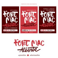 i designed a 3 poster series to help spread the word for @redcrosscanada. downloadable PDFs on my blog. https://corkboardcreative.com/2016/05/18/fort-mac-for-the-comeback/
