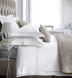 The White Company Single Row Cord Bed Linen White Bedroom, Dream Bedroom, Bedroom Decor, Bedroom Bed, Bed Room, Bedroom Ideas, Master Bedroom, The White Company, Guest Bedrooms