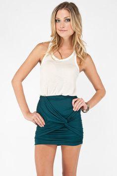 #Tobi                     #Skirt                    #Knot #Taken #Skirt #Deep #Teal #tobi               Knot Taken Skirt in Deep Teal :: tobi                                         http://www.seapai.com/product.aspx?PID=1187426