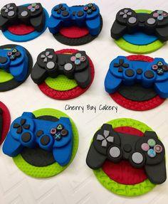Toppers de cupcake fondant videojuego juego Video cumpleaños