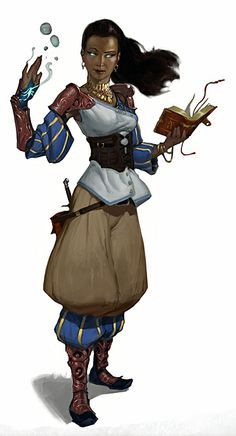Female Wizard - Pathfinder RPG PFRPG DND D&D d20 fantasy