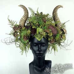 Mother Nature Headdress by MissGDesignsShop on Etsy Corona Floral, Cosplay, Woodland Creatures, Costume Makeup, Faun Costume, Headgear, Faeries, Masquerade, Fancy Dress