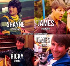 Shane is misspelled, but I loved him as Ricky.. OH WHAT THE HECK, I LOVED HIM AS JAMES DIAMOND, SHANE, AND RICKY