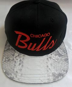 0123a6fcc $79 Chicago Bulls Black Snakeskin #Strapback Hat | Snakeskin Strapbacks | Custom  Handmade Clothing and Accessories