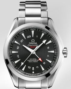 OMEGA Watches: Seamaster Aqua Terra 150 M GMT - Steel on steel -