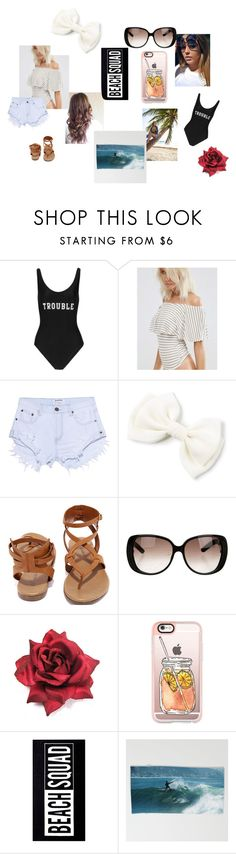 """""""summer fun"""" by beauty-bomb-22 on Polyvore featuring ADRIANA DEGREAS, One Teaspoon, Breckelle's, Gucci, Casetify and New Look"""