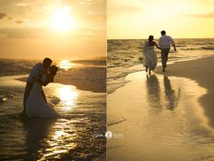 Beach weddings  |  Sunset weddings  |  Watercolor  |  Florida Wedding Photographers  (Aislinn Kate Photography)