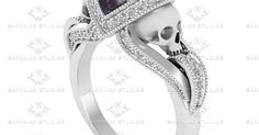 Jewelry Black Gold aphrodite-diamond-white-rose-gold-skull-engagement-ring -A - 'Aphrodite' ct GIA certified natural diamond skull white gold engagement ring. Diamond Skull, Gold Skull, Black Diamond, Black Skulls, White Diamonds, Pear Diamond, Black Onyx, Black White, Gothic Engagement Ring