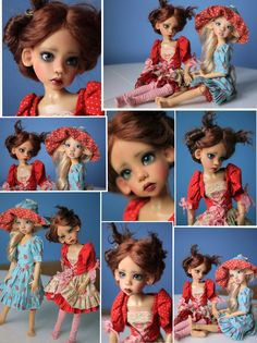 OOAK Custom Faceup Laryssa Sunkissed Faun and Hope Tan Skin Human MSD BJD by Kaye Wiggs via TRC Member: Serena