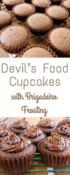 Devil's Food Cupcakes with Brigadeiro Frosting   Travel Cook Tell