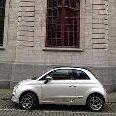 Fiat 500 pearl white