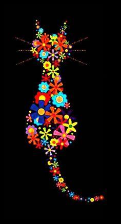 Լღvє♥ the Flower CatWould make a great embroidery or even (if you're feeling ambitious) a knitted/crocheted blanketcute cat and pets in the victorian times catalog, and pets zoboomafoo swimming sohu, animal and pest control evergreen commons, a Crazy Cat Lady, Crazy Cats, Cat Quilt, Button Art, Cat Drawing, Mosaic Drawing, Whimsical Art, Cat Love, Rock Art