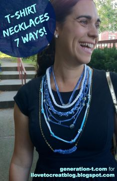 T-Shirt necklaces 7 ways