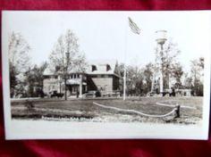 Antique Real Photo Postcard American Legion Otter Lake, MI