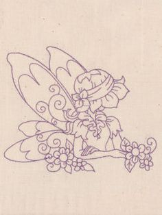 Redwork Fairies would be fun to collage with for art Vintage Embroidery, Embroidery Applique, Cross Stitch Embroidery, Embroidery Patterns, Cross Stitch Patterns, Machine Embroidery, Fairy Coloring, Copics, Applique Designs